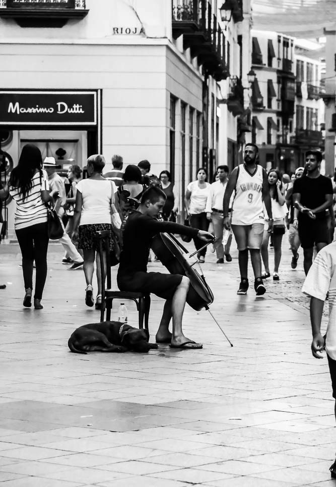 Cello in the street 3
